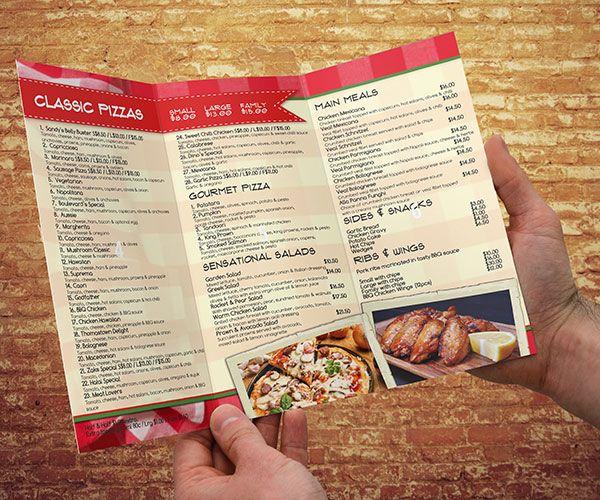 17+ Ideas About Pizza Menu Design On Pinterest