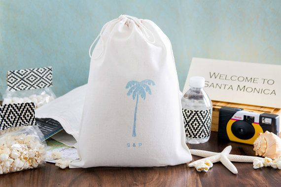Destination Wedding Welcome Bags - Out Of Town Guest Welcome bags - Tropical Wedding Favors - 8 x 12