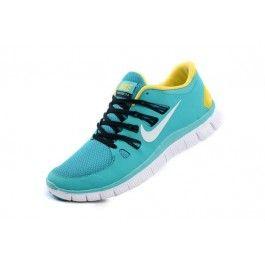 Nike Free 5.0+ Herresko Lysblå Gul | Nike sko tilbud | billige Nike sko på nett | Nike sko nettbutikk norge | ovostore.com