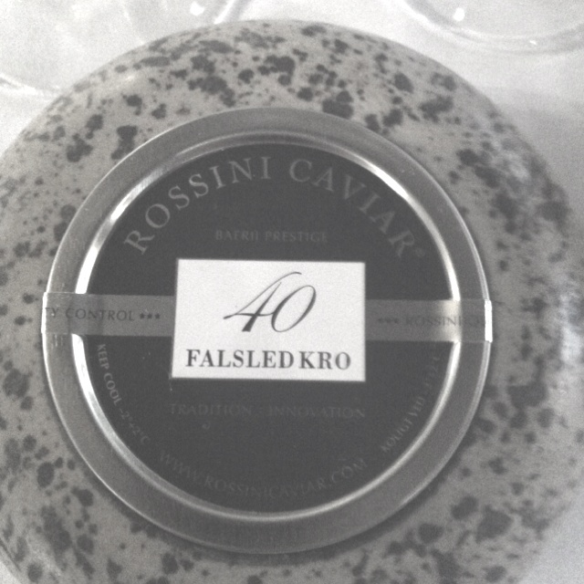 Rossini Caviar from Relais & Chateaux / Falsled Kro (Falsled Inn), Funen, Denmark