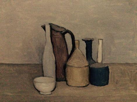 Giorgio Morandi, Natura morta  / Still Life 1952 on ArtStack #giorgio-morandi #art