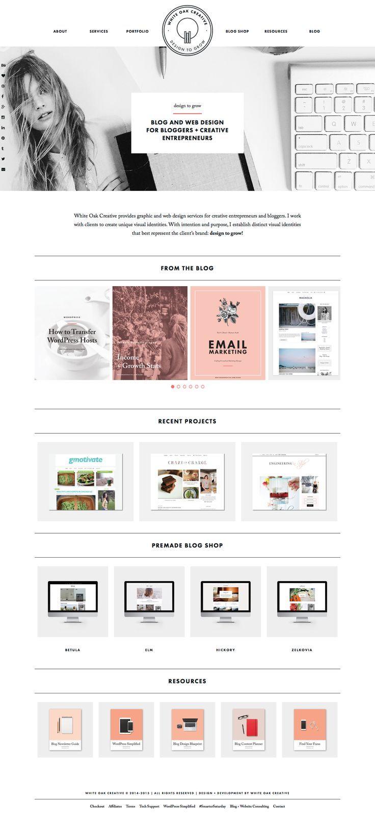White Oak Creative Blog and Web Design for Creative Entrepreneurs and Bloggers, logo design, blog design, branding, wordpress blog design