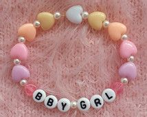 Bby Grl Bracelet / Baby Girl / Kandi Bracelet / Fairy Kei / Lolita / Kawaii…