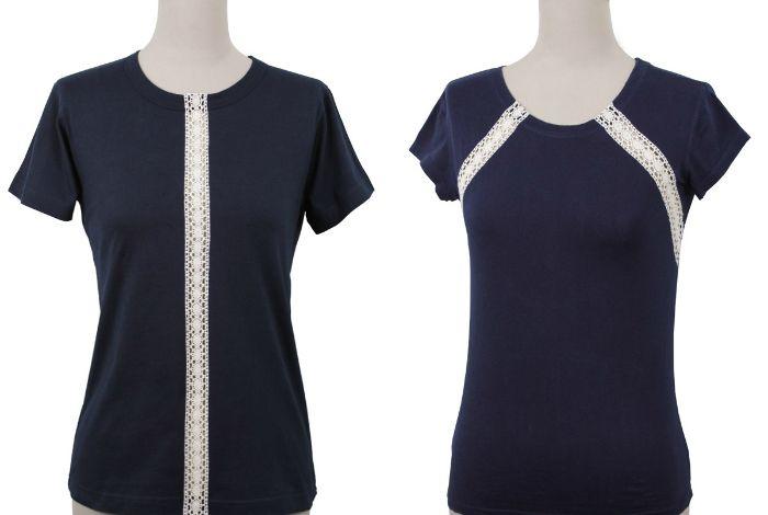 DIY Anleitung: Shirt mit Spitze nähen // fashion diy: how to sew a lace shirt via DaWanda.com