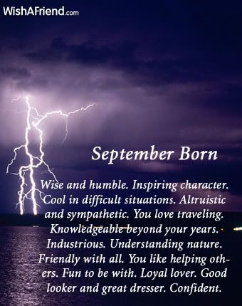 I was born in September.