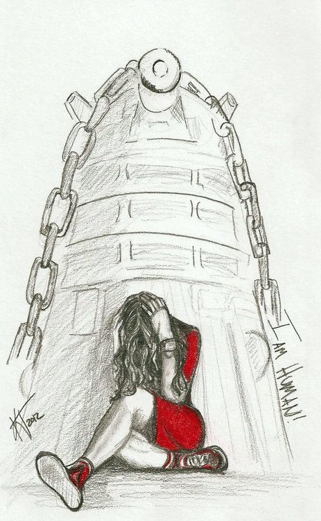 """I am Oswin Oswald. I fought the Daleks and I am human. Remember me.""  Possibly one of the saddest episodes with the Ponds.  RUN YOU CLEVER BOY, AND REMEMBER.  Source: untroubledheart.deviantart.com"