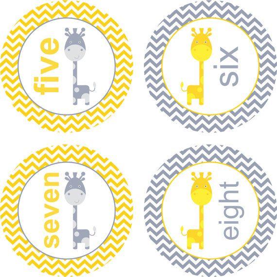 Mensual etiquetas engomadas del bebé del por LittleLillyBugDesign