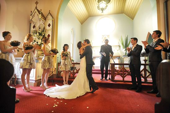 A joyful church ceremony filled with family and close friends all in a picture perfect location – the Hunter Valley Vineyards