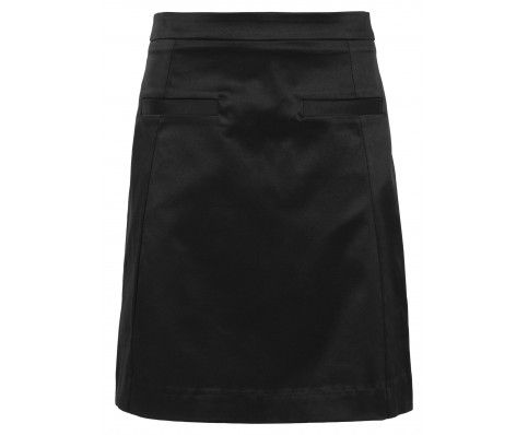 Dressfactor A-lijn rok zwart satijn