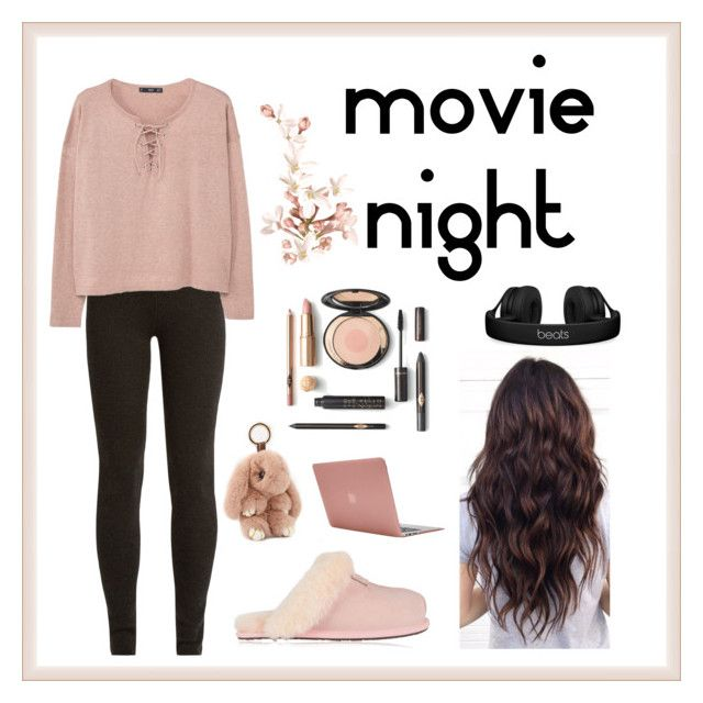 """""""movie night"""" by lailaniii ❤ liked on Polyvore featuring Ryan Roche, MANGO, UGG, Incase and Beats by Dr. Dre"""