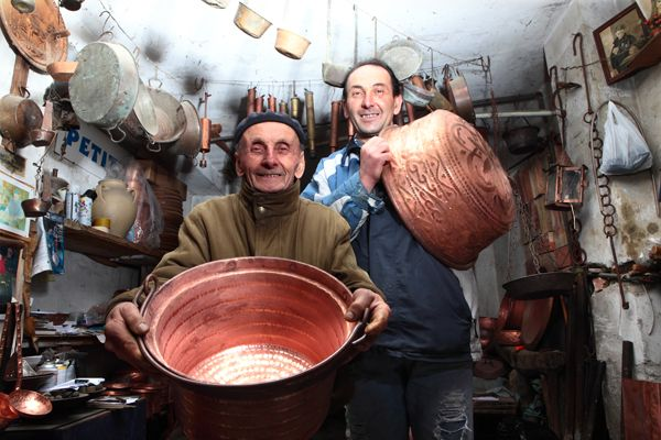 Traditional copper craftsmen
