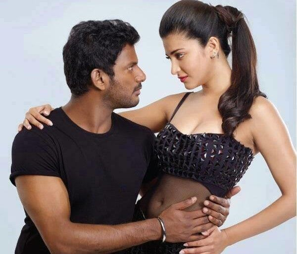 Vishal and Shruti Haasan have paired in the film Poojai for the first time. They look good!