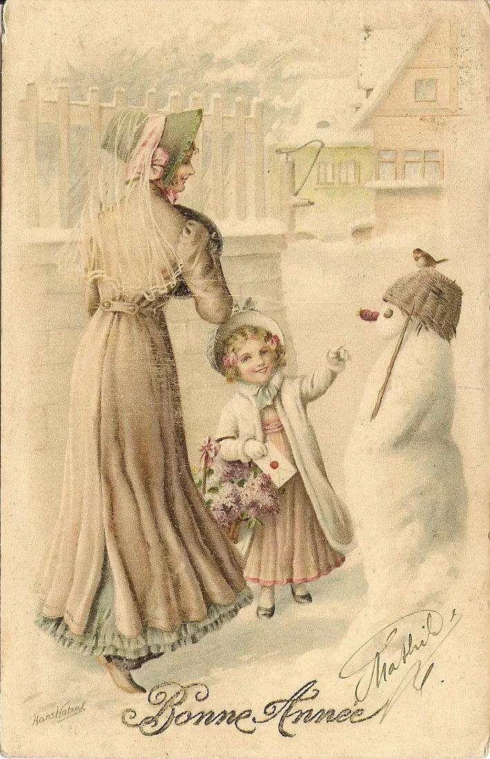 старинные открытки авторские