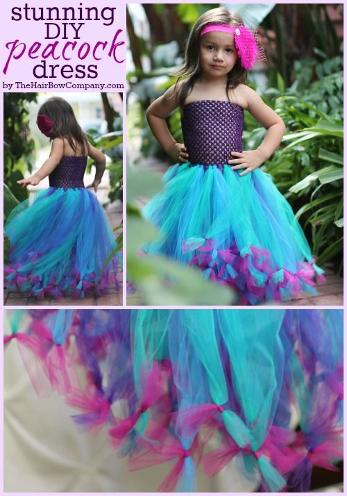 Peacock Tutu Dress DIY -- so doing this for my little girl!