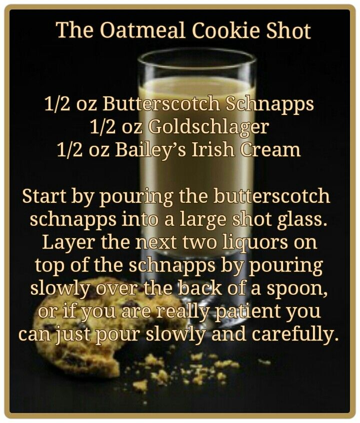The Oatmeal Cookie Shot  #fave