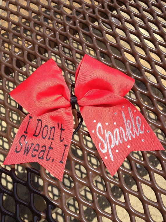 Cheer Bow - I Don't Sweat.  I Sparkle on Etsy, $12.50