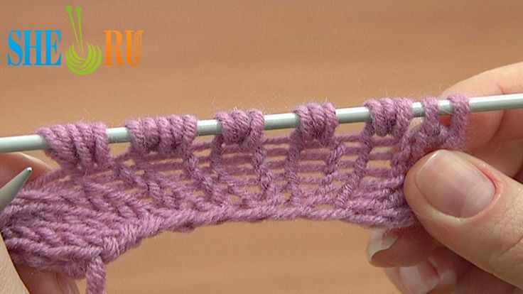 How To Increase Stitches In Knitting Purl : Increase Knit 1 Yarn Over Knit 1 Tutorial 8 Part 9 of 14 Three-Stitches Incre...