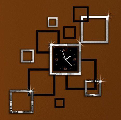 Lifeup orologio da parete moderni design silenzio arte for Servizi da bagno moderni