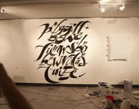 Wall Lettering for Letterforming Exhibition