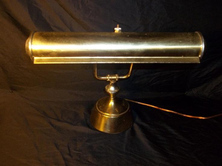 Vintage Brass, Metal Industrial Styled Desk Lamp. Piano Lamp. $35.00, via Etsy.