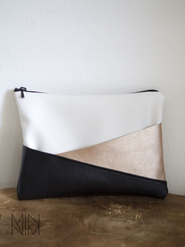 Schminktäschchen aus Kunstleder // fake leather cosmetic bag via DaWanda.com (Fashion Diy Ideas)
