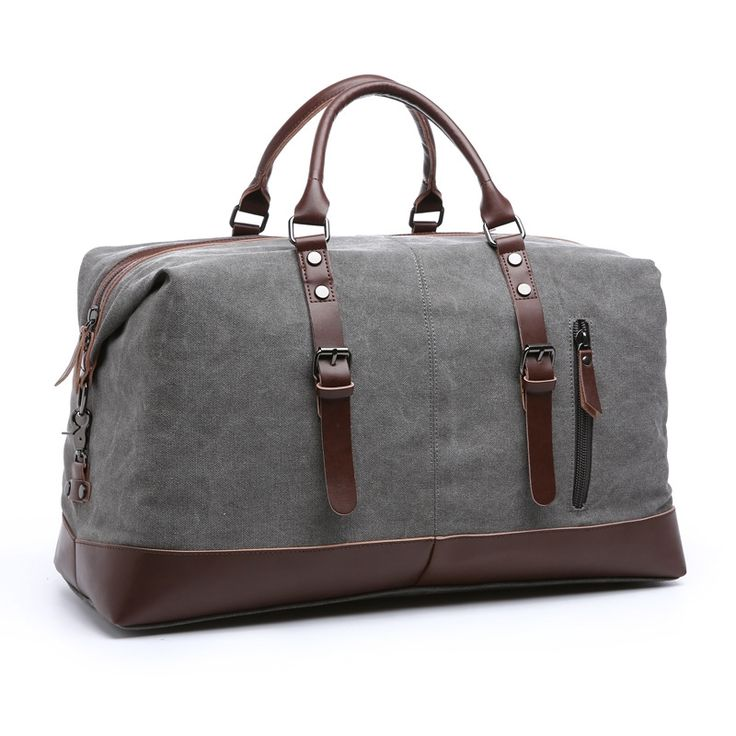 (49.98$)  Know more  - Vintage Military Canvas Leather Men Travel Bags Carry on Luggage Bags Women Duffel Bags Travel Tote Large Weekend Bag Overnight