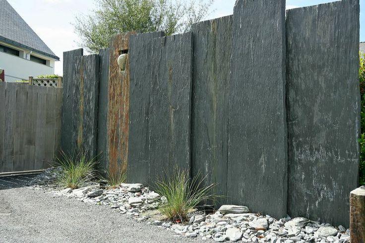 Cl ture par palis de schiste cr ation sarl pain concept for Design paysage