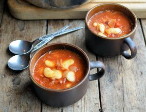 Butter Bean & Chorizo Stew with Tomatoes - without the chorizo