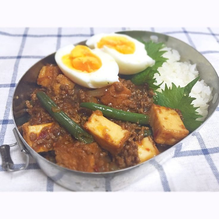 Deep Fried Mapo Tofu Bento - 厚揚げ麻婆弁当