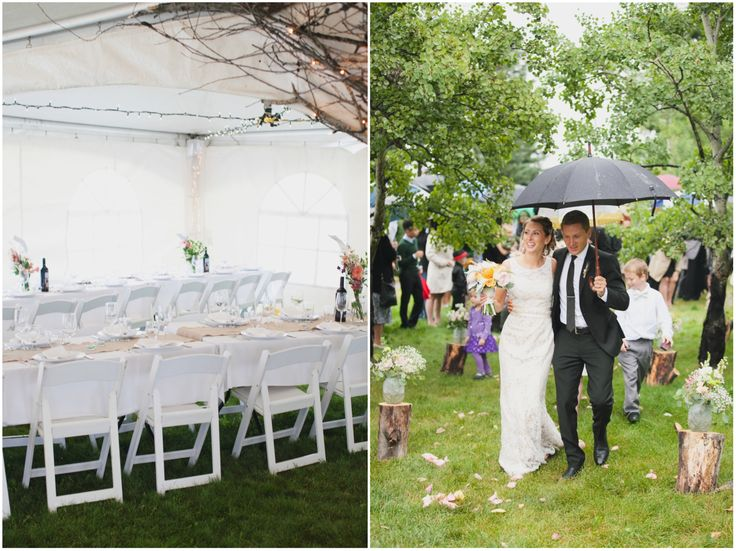 Backyard ceremony, intimate white tent wedding, paper flowers mixed with fresh flowers, DIY wedding, homemade pies, cigars and bourbon!
