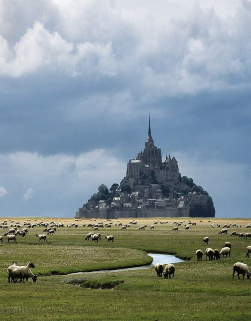 Mont Saint-Michel in Normandy, France (via Danny Vangenechten). - See more at: http://visitheworld.tumblr.com/search/France#sthash.hPX40kOK.dpuf
