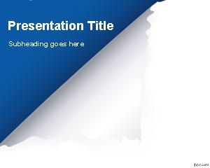 Page Flip PowerPoint Template is a free PowerPoint template with a nice page flip effect or turn page effect on the corner