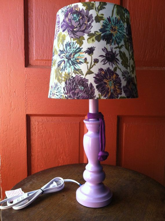 Purple  Lilac  Orchid Bedside Table Lamp with by JanesHappiness, $30.00