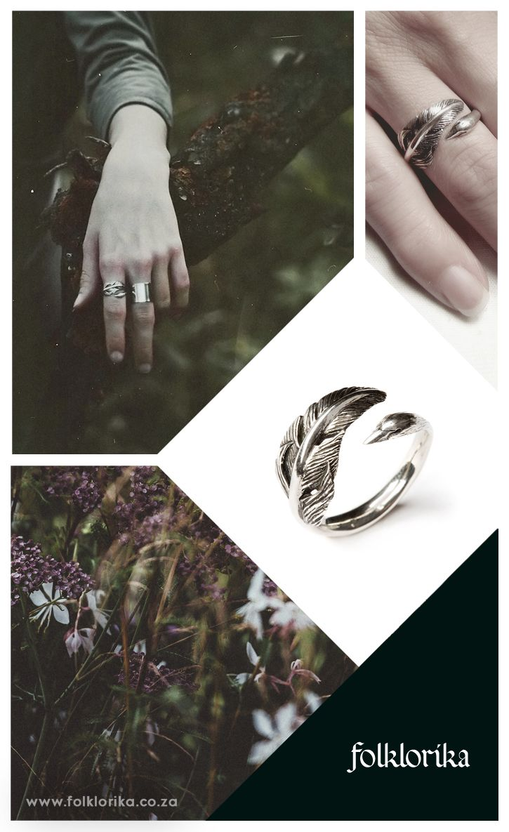 FREE SHIPPING on Etsy! Sterling Silver Swan Ring by Folklorika, via Etsy. Folktale inspired jewelry by Folklorika. #jewellery #jewelry #jewelryinspiration #forest #folklore #typography #logo #font #emeraldgreen #green