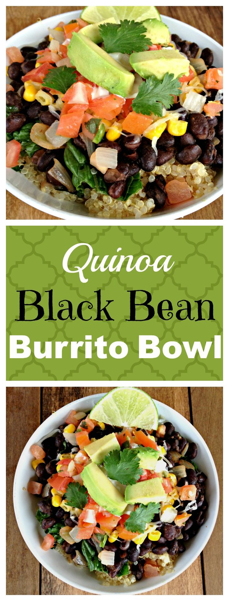 This quinoa black bean burrito bowl has the perfectly seasoned quinoa and beans. And you can add whatever toppings you want!