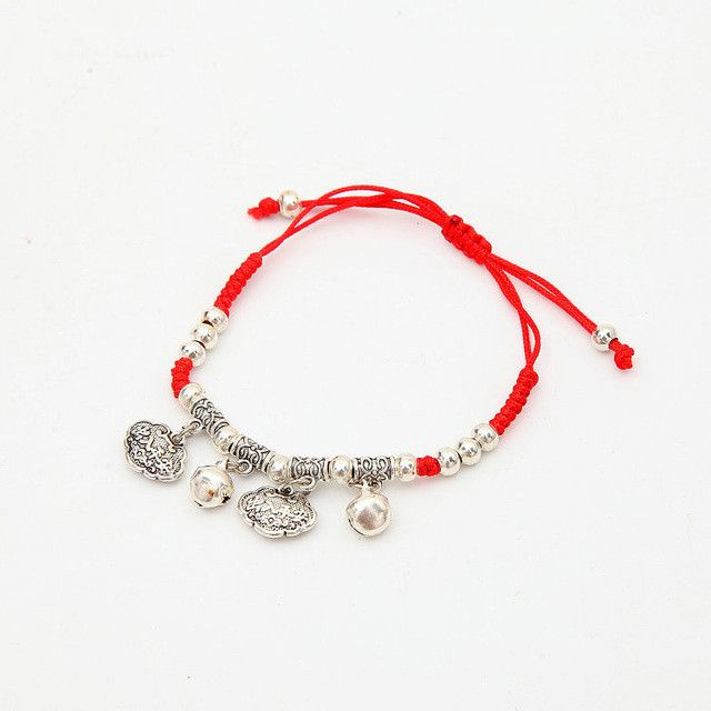 7 Colors Austrian Crystal jewelry thin red thread string rope Charm Bracelets for women