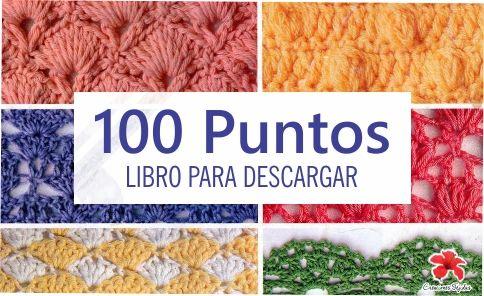 100 Puntos a Crochet - Libro para Descargar ~ CTejidas [Crochet y Dos Agujas]