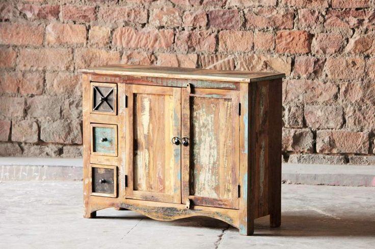 Riya+Upcycled+3+Drawer+2+Door+Medium+Sideboard