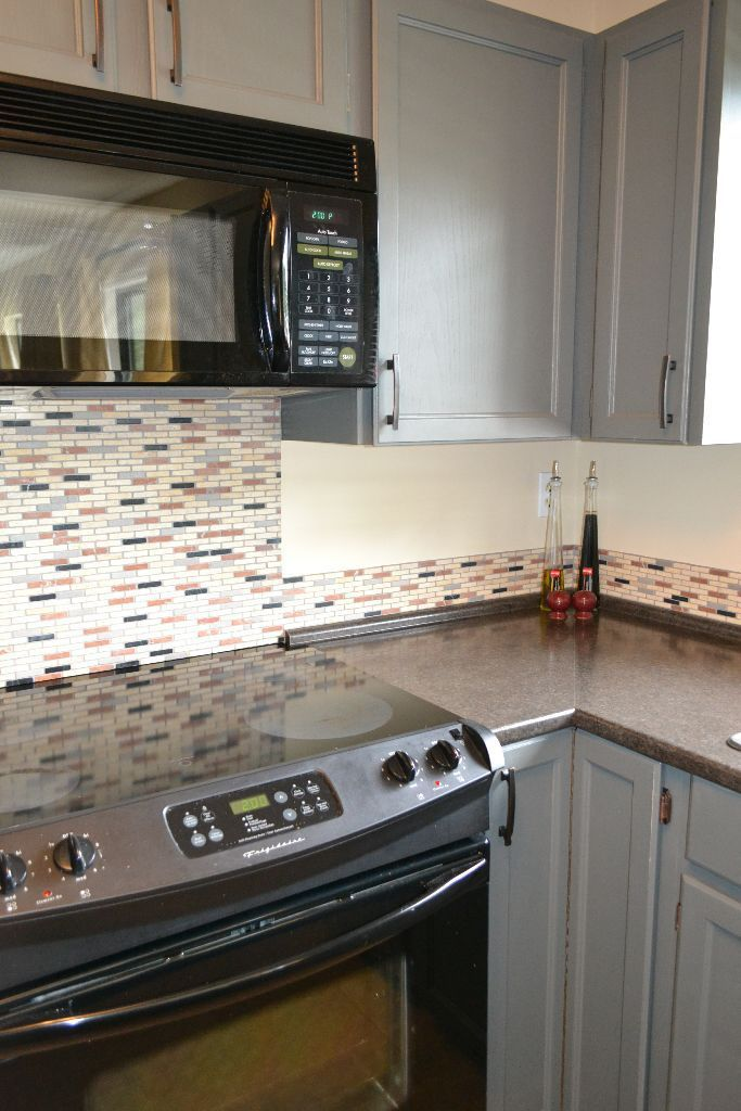 How to paint wood furniture and wood laminate cabinets before and after photos how to - Painting wood veneer kitchen cabinets ...