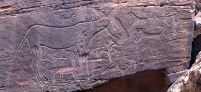 Painéis em pedra de até 9 mil anos retratam as imagens mais antigas de cachorros