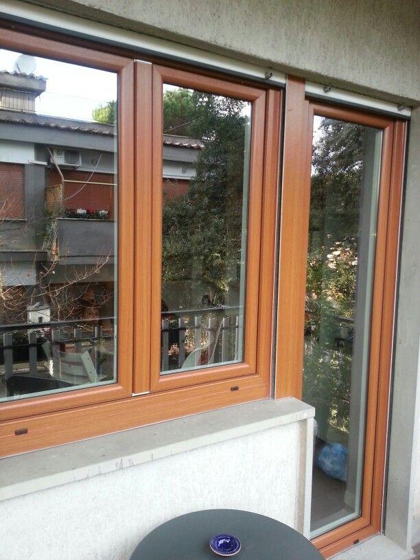 Finestre pvc bicolore,vetro 4 staggioni
