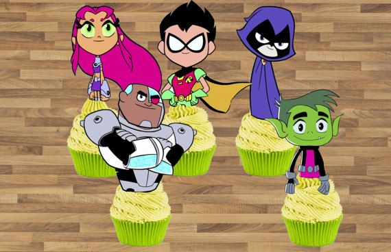 ***INSTANT DOWNLOAD*** Teen Titans Go Inspired Cupcake Toppers Teen Titans Go Cake Toppers Teen Titans Go Birthday Decoration Teen Titans Go Cupcake Toppers Approximately 3 inches tall depends on the character for CUPCAKES! YOU WILL GET: 1 page PDF files BORDERED/OUTLINED for