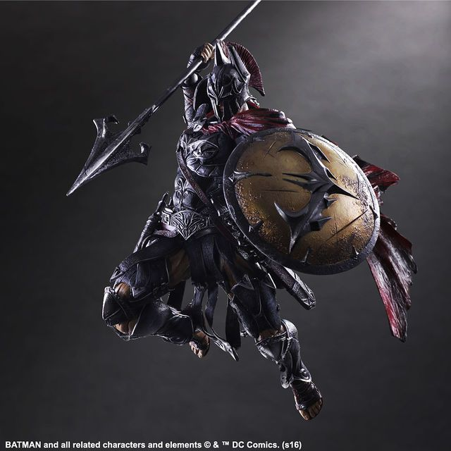 What Would It Look Like If Square Enix Redesigned Batman as a Spartan Warrior...?   moviepilot.com
