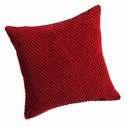 From 6.00 Chenille Spot Red Cushion Cover 20inx20in (50cmx50cm) Approximately By Hamilton Mcbride