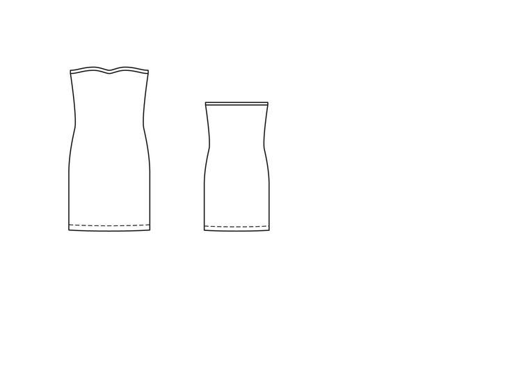 Платье-бюстье - выкройка № 104 В из журнала 6/2015 Burda – выкройки платьев на Burdastyle.ru