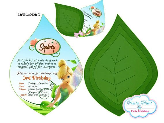 TINKERBELL Invitation Printable by FiestaPrint on Etsy, $8.00