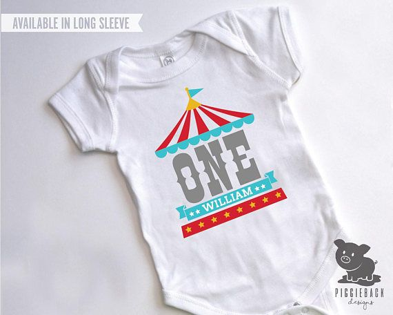 Circus Shirt Birthday One Piece Boy Party First Carnival