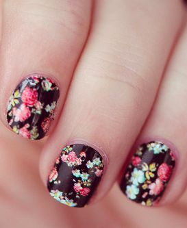 flower nails, fashion, trends. beauty shop, nails, spa. Uñas con flores, moda, tendencias. estética, uñas, spa.