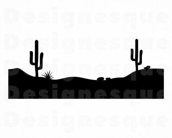 Desert Landscape Svg Mojave Desert Svg Western Svg Arizona Etsy In 2021 Svg Landscape Clipart Desert Landscaping
