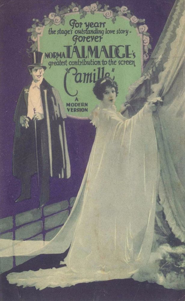 PARK THEATRE Programs Week of 11/7/26 ROCKLAND ME.CAMILLE with NORMA TALMADGE